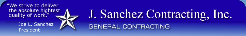 Home Page of J. Sanchez Contracting, Inc.